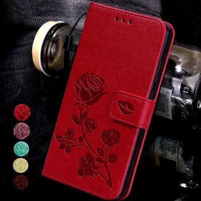 Rose Floral Flip Leather Case for Samsung A31 A51 A41 M21 A30S A71 A01 A50 A20S A10S Note 10 Lite S8 S9 S10 S20 Plus S20 Ultra A6 A7 J2 Core