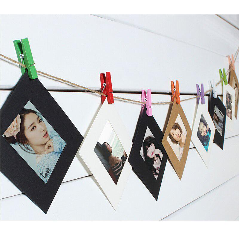Photo Frame Picture Hanging Album Frame With Hemp Rope Clips Hang Album Stand Kraft Frame Clips Buy From 4 On Joom E Commerce Platform