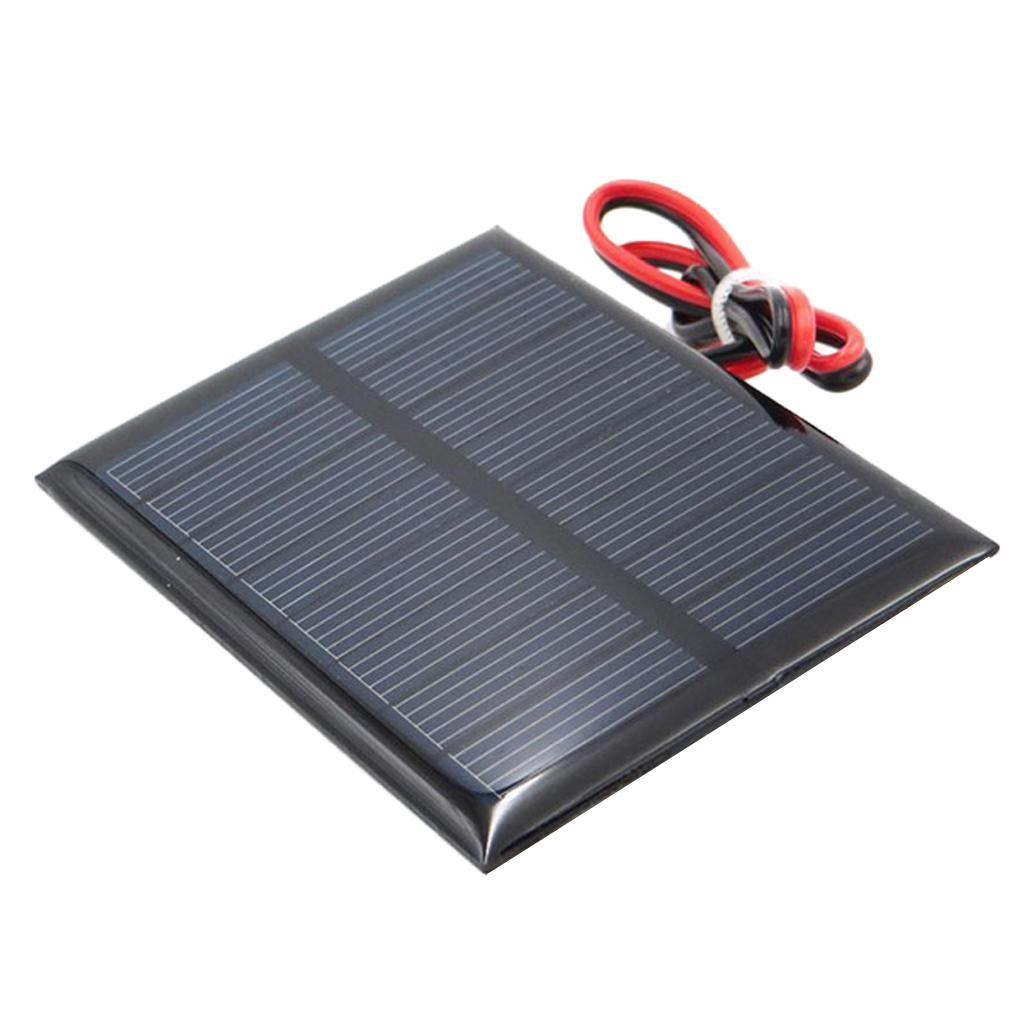 2pcs Polycrystalline Small Solar Panel 5.5V 80mA Solar Charger Controller