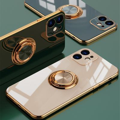 Luxury Metal TPU Ring Case for iPhone Soft Cover for Iphone 13 12 Pro MAX 12 Mini 11 Pro MAX X XR XS 8 7 Plus