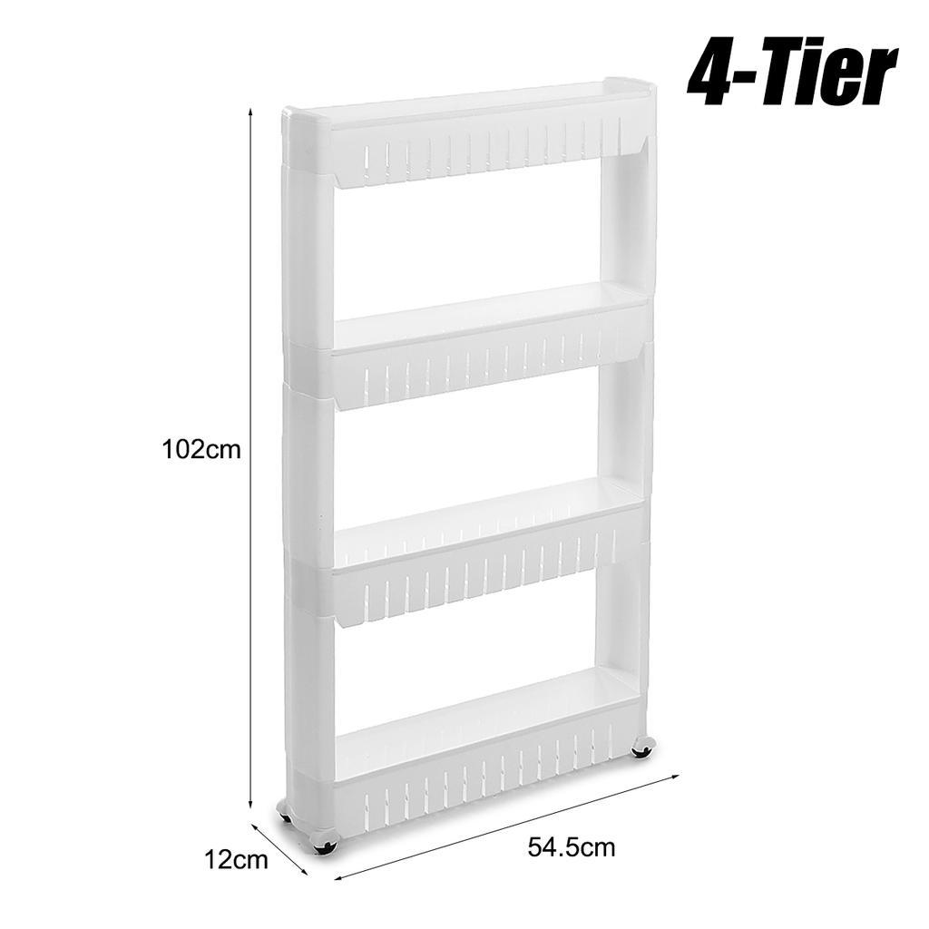 3 4 Tier Slim Slide Out Storage Tower Trolley Organizer Cart Rack Holder Shelf With Wheels For Kitchen Home Bathroom Buy From 61 On Joom E Commerce Platform