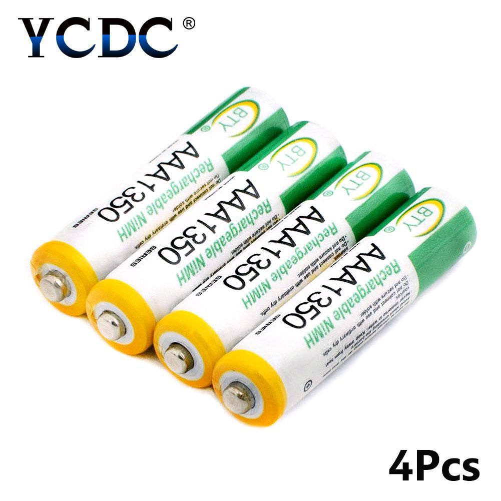 1.2V AAA 1350mAh Высокообъемная аккумуляторная батарея AM4/LR3 Ni-MH Клетки 4Pcs с корпусом фото