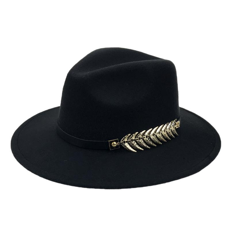Mens Hats Cotton Fedoras Classical Trilby Church Cap Casual Solid Color Curved Brim Fedora Hat Sunhat