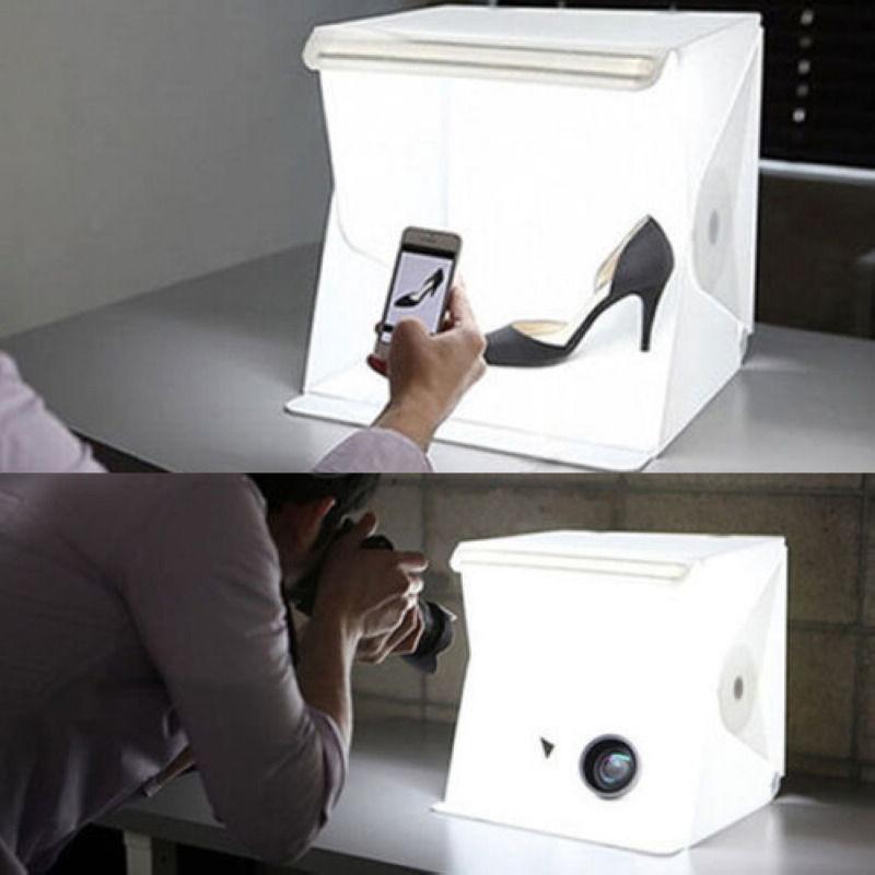 """Luz de habitación de estudio fotográfico de 9 /""""fotografía Lighting Kit Tienda telón de fondo Cubo Mini Caja"""