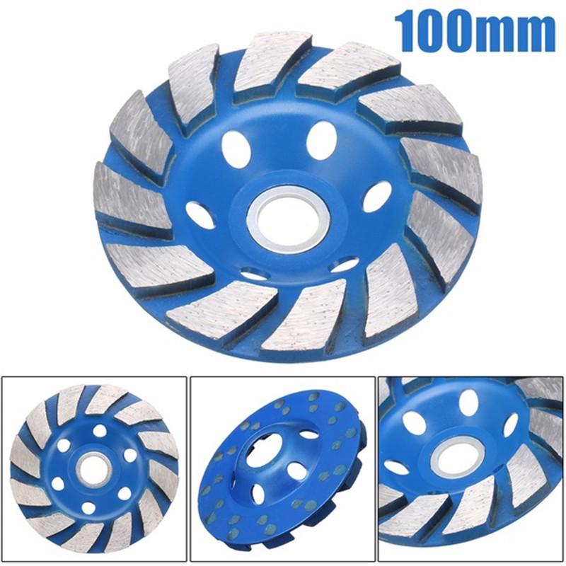 100mm*4mm Diamond Grinding Wheel Sanding Disc Concrete Masonry Stone Marble