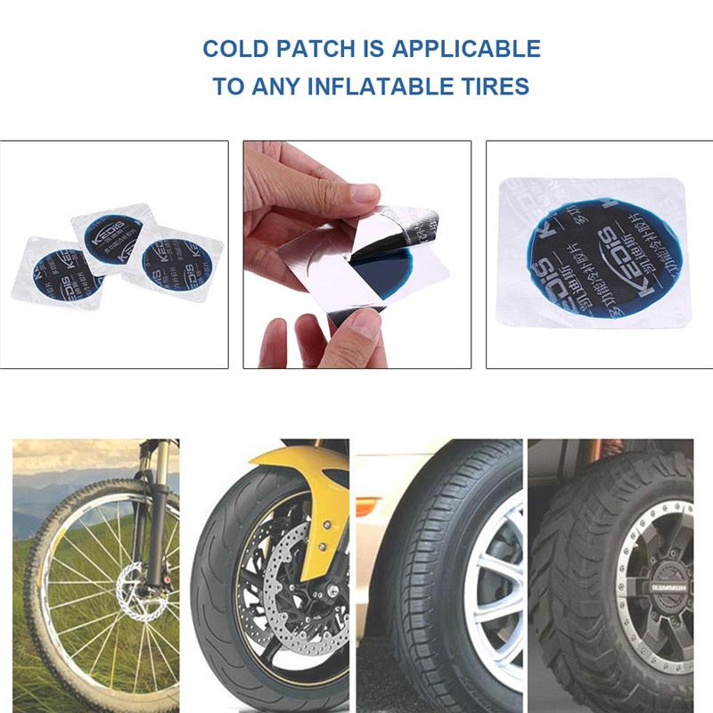 100X 42mm Car Round Natural Rubber Tire Tyre Repair Cold Patch Tubeless Patches