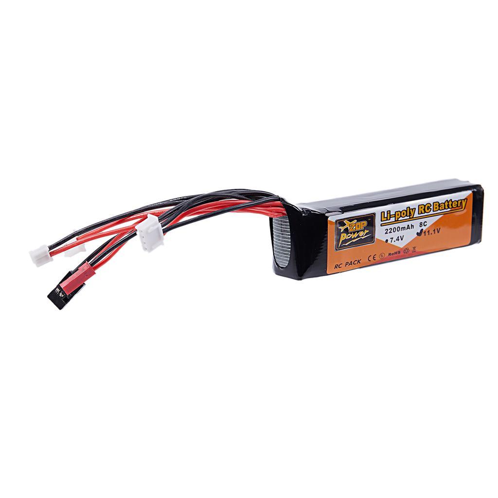 ZOP Power 11.1V 2200mAh 3S 8C Lipo Battery JR JST FUBEBA Plug for Transmitter