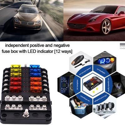 Universal Car Fuse Holder Box 32v Dc 6 Way With Independent Negative Function For Vehicle Car Boat Buy At A Low Prices On Joom E Commerce Platform