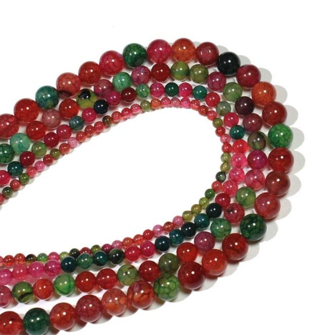 Round Loose Spacer Agate 1 Strand Tourmaline Beads For Jewellery Making 6-10mm