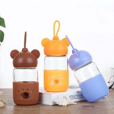 Mutter & Kinder 160ml Baby Silicone Milk Feeding Bottle Mamadeira Vidro Bpa Free Safe Infant Juice Water Feeding Bottle Cup Glass Nursing Feeder
