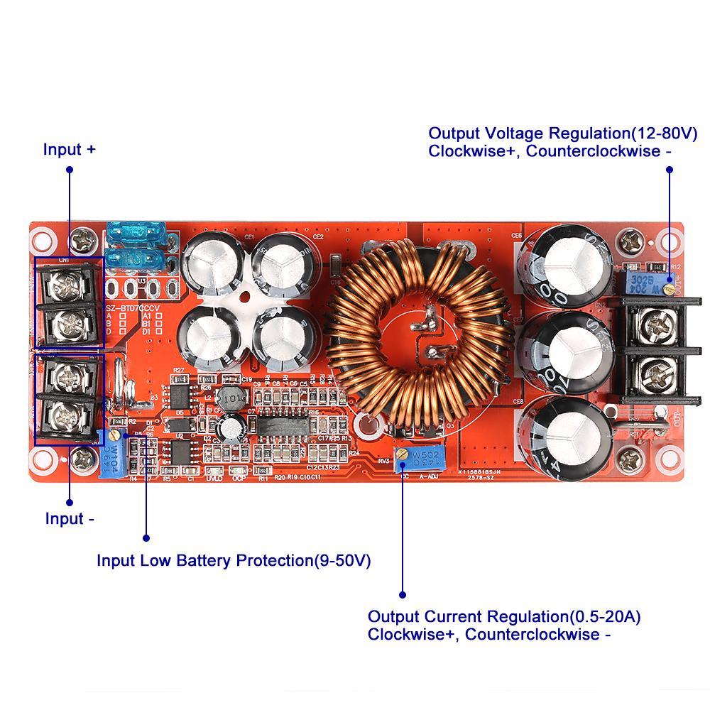 DC-DC 10A  Step Down Regulator Module 60V 36V 24V 12V to 24V 12V 3V  MC