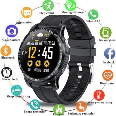 T68 Smart Watch mit Körpertemperatur Messen Herzfrequenz..