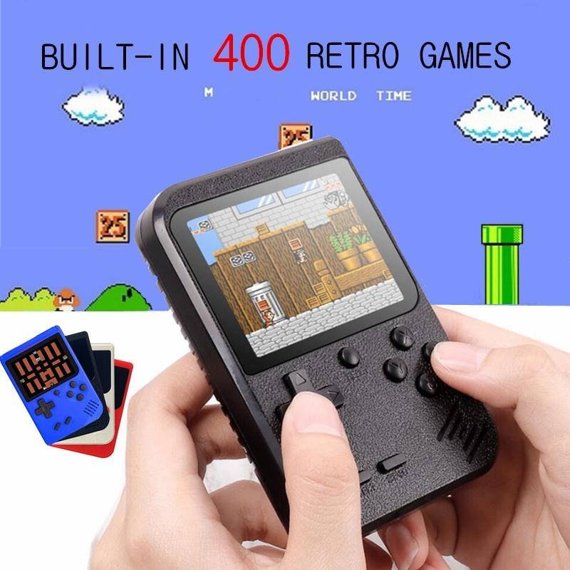 Видео игры Консоль 8-битный Ретро Мини портативный портативный игровой консоли встроенный 400 Классическая игра фото