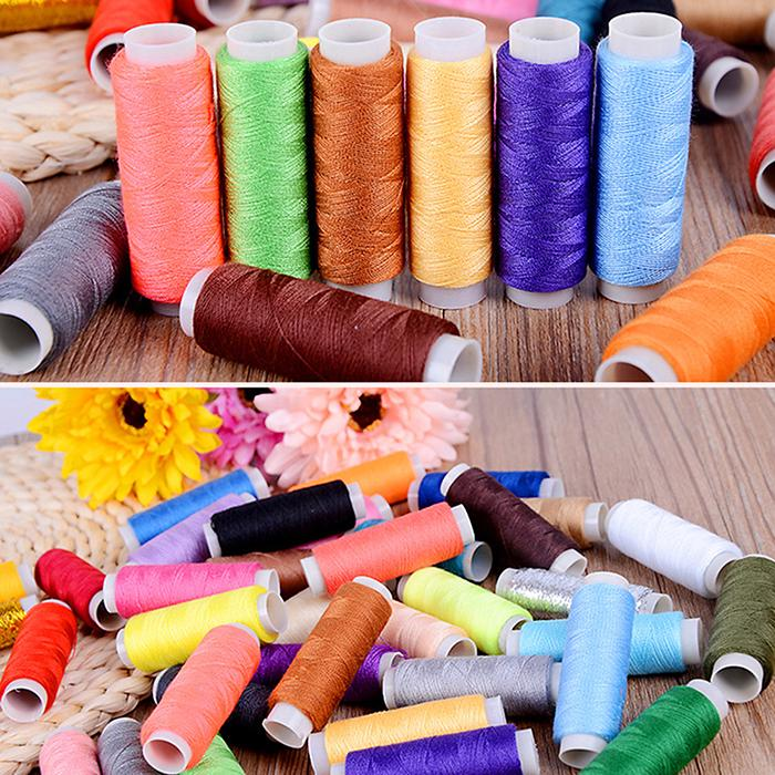 10 Colors Sewing Thread Assortment Coil Polyester Thread Sewing Line Portable Plastic Tube All Purpose Polyester Thread for Hand and Machine Sewing