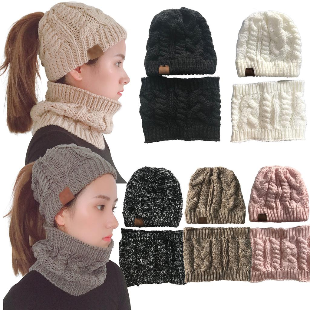 Camping Beanie Baggy Warm Winter Knitted Cap Neckerchief Hat Scarf Women Men Buy At A Low Prices On Joom E Commerce Platform