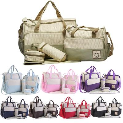 Portable Mummy Diaper Bags Baby Nappy Canvas Shoulder Changing Bag one