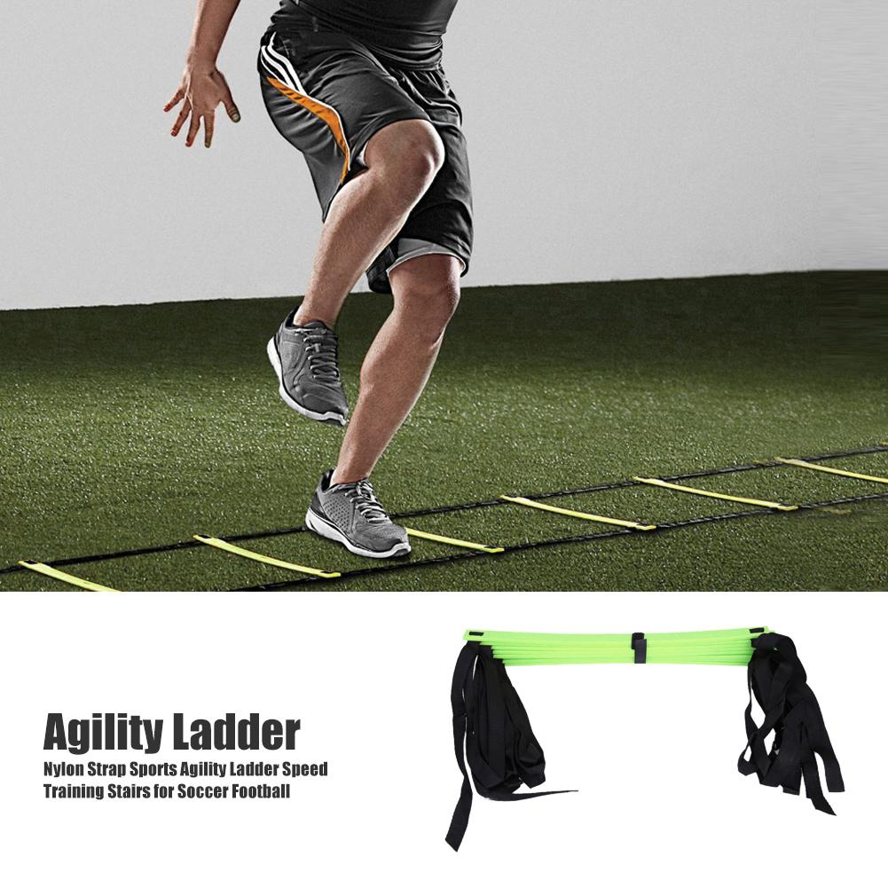Nylon Straps Agility Ladder Soccer Football Speed Training Stair Sport Equipment