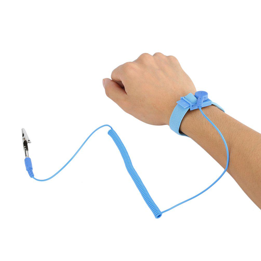 2PCS Brand Anti Static ESD Wrist Strap Discharge Band Grounding Prevent Static N