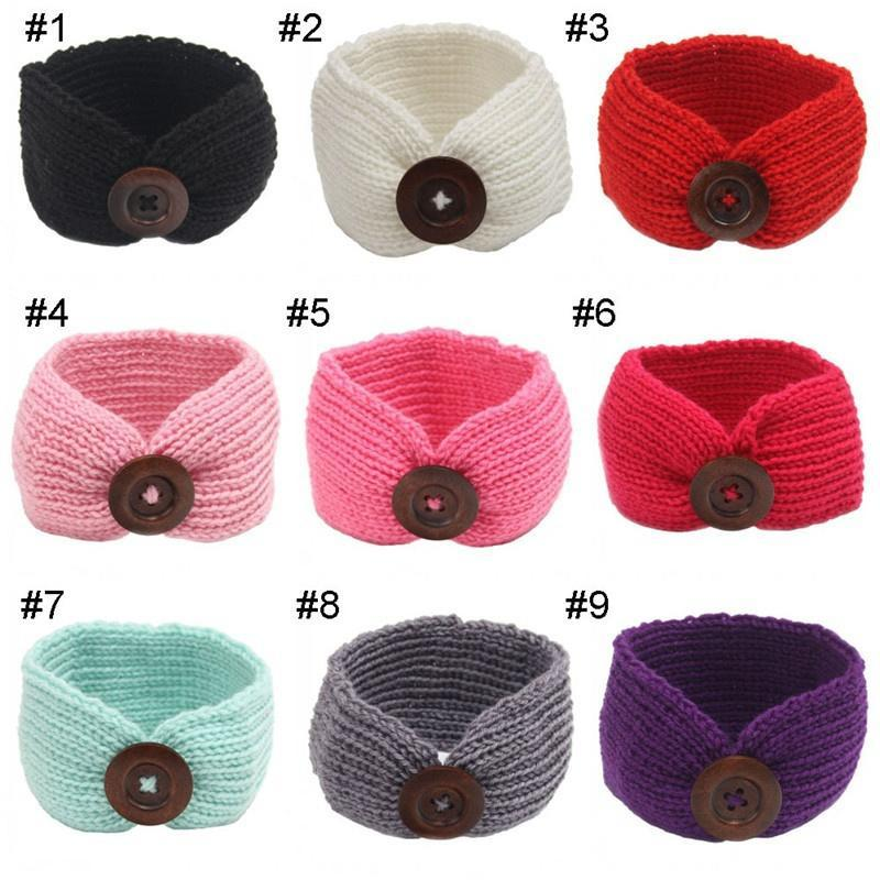 Baby Kinder häkeln Taste Turban Head Wrap Haarband Winter Ohr wärmer ...