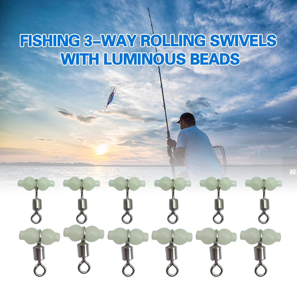 20x//lot 3 links rolling swivel barrel fishing tackle connector accessories  M