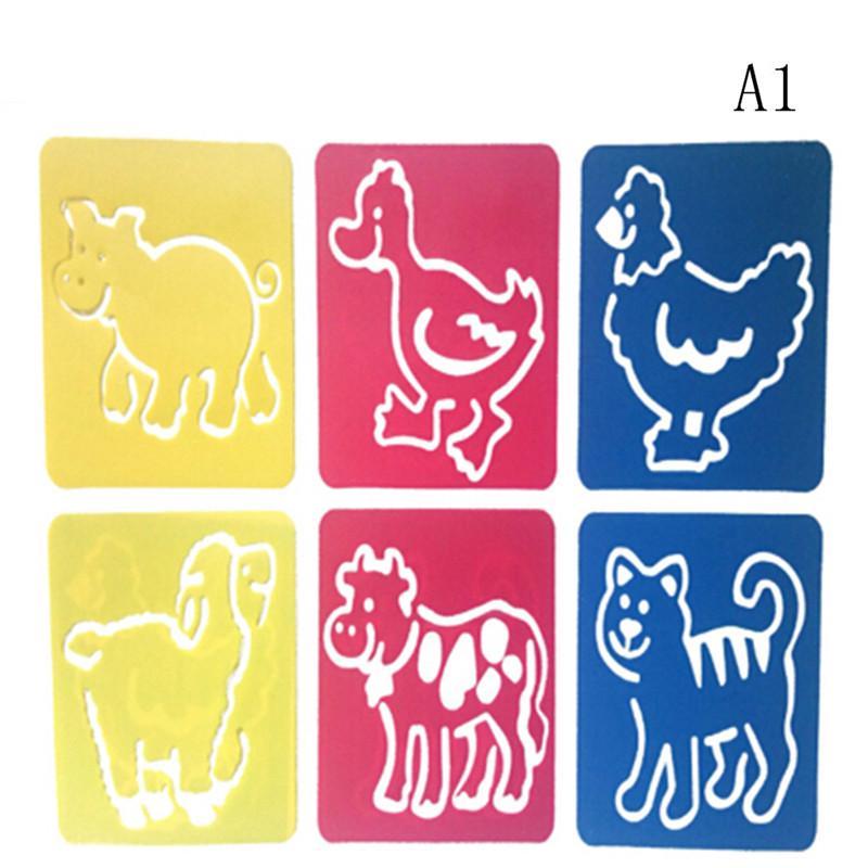 20pcs Drawing Stencils Set Plastic Art Drawing Templates for Kids Children