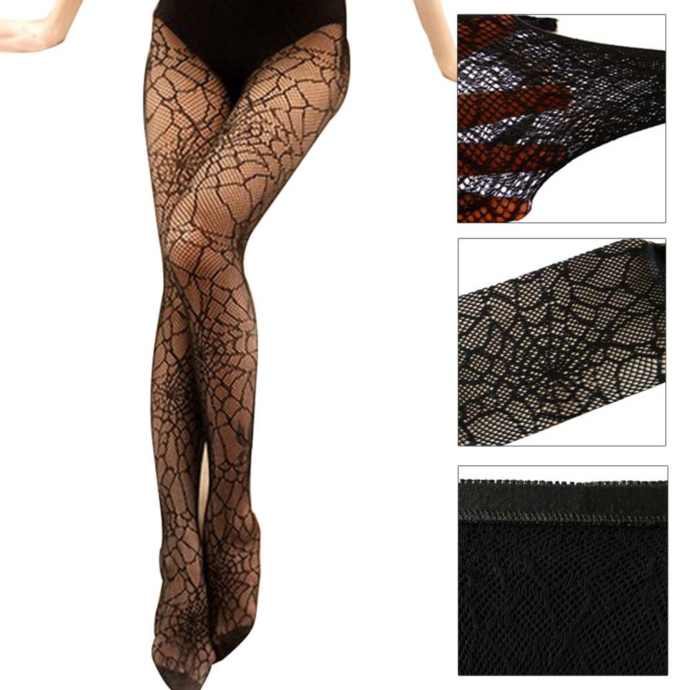 Adults Spider Web Witch Knee High Socks Halloween Costume Hosiery Feet Accessory