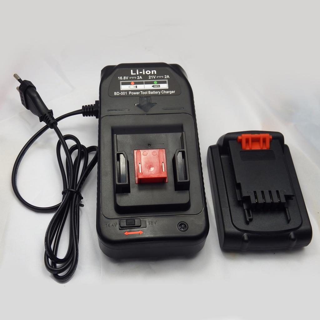 Lithium-Ion Rapid Battery Charger for Black /& Decker LDX116 14.4V 18V Tool