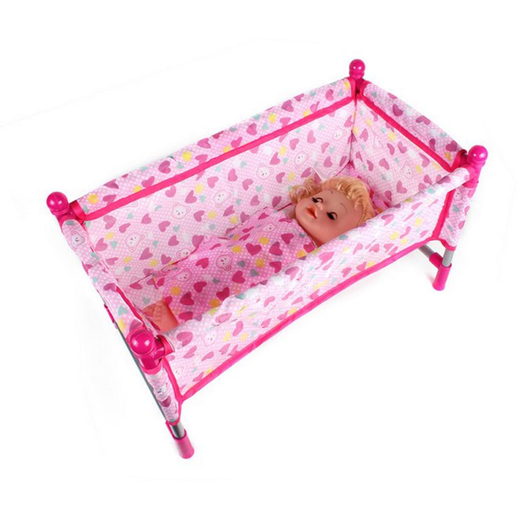 Picture of: 1set Reborn Doll Bed Baby Toddler Crib Play House Toys Accs Buy At A Low Prices On Joom E Commerce Platform