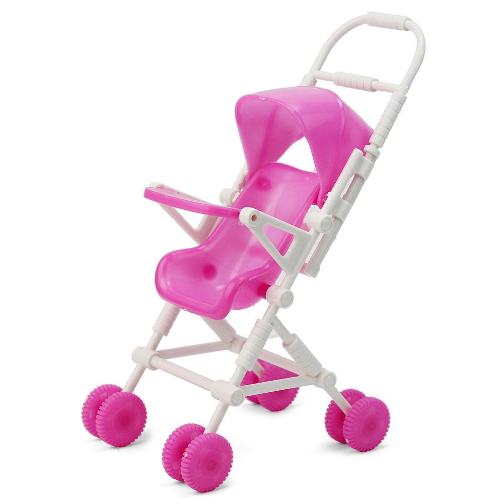 Familia feliz bricolaje montar muñeca muebles carro de bebé silla de ...