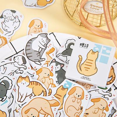 45 Pcs//lot Cute Cat Sticker Stationery DIY Scrapbooking Self Adhesive Stickers