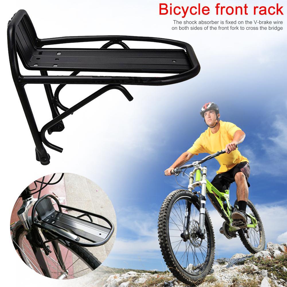 Aluminum Alloy Bike Bicycle Front Rack Luggage Shelf Carrier Panniers Bracket