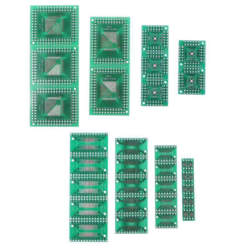 30 stücke PCB Boards SMD zu DIP Adapter Konverter FQFP32-100 QFN48 SOP8 16 24 28