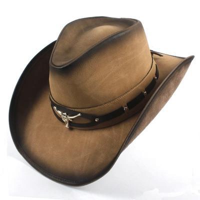 1 56-58 cm 56-58 cm Qiang Dong 2019 Retro Sun Hat Donna Uomo Estate Paglia Spiaggia Tesa Larga Cowboy Western Cowgirl Cappello Hollow Due Pistole Cartello Pelle Band