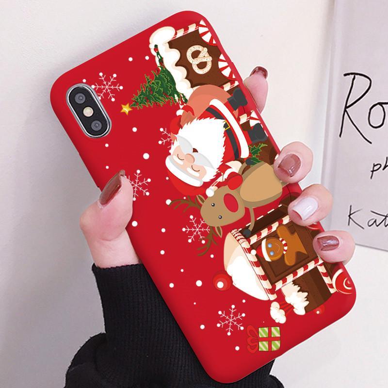 Natale Natale Natale regalo carino Babbo Natale morbido per Coque Samsung iPhone Huawei Cover Xiaomi Redmi Custodia