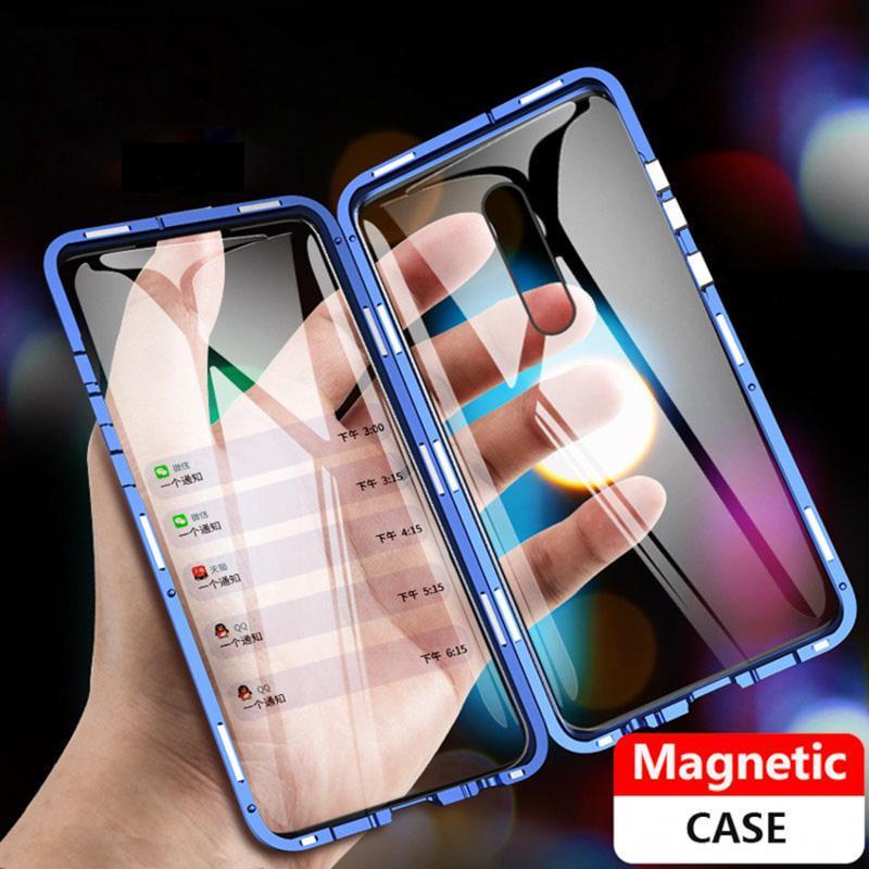 Магнитная полная обложка для Huawei P40 Lite Honor 30s Samsung A10s A40s A40 Xiaomi Redmi 8 8A Note8T 9S OPPO A5 A9 2020 Cases с закаленным стеклом – купить по низким ценам в интернет-магазине Joom
