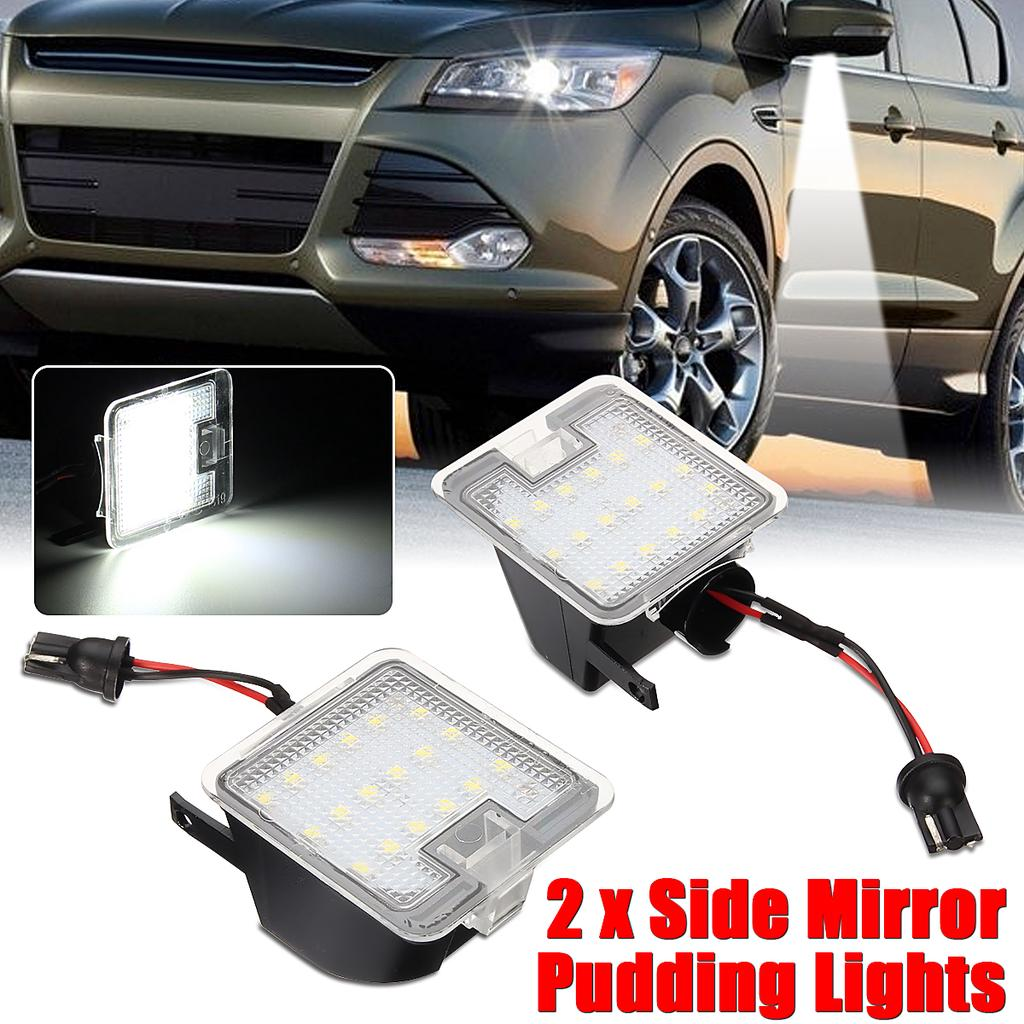 2pcs 18 LED Side Mirror Puddle Lights For Ford Mondeo MK4 Focus Kuga Escape UK