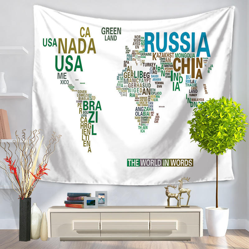 Home fashion wall decor world map hanging tapestry yoga mat reviews gumiabroncs Choice Image