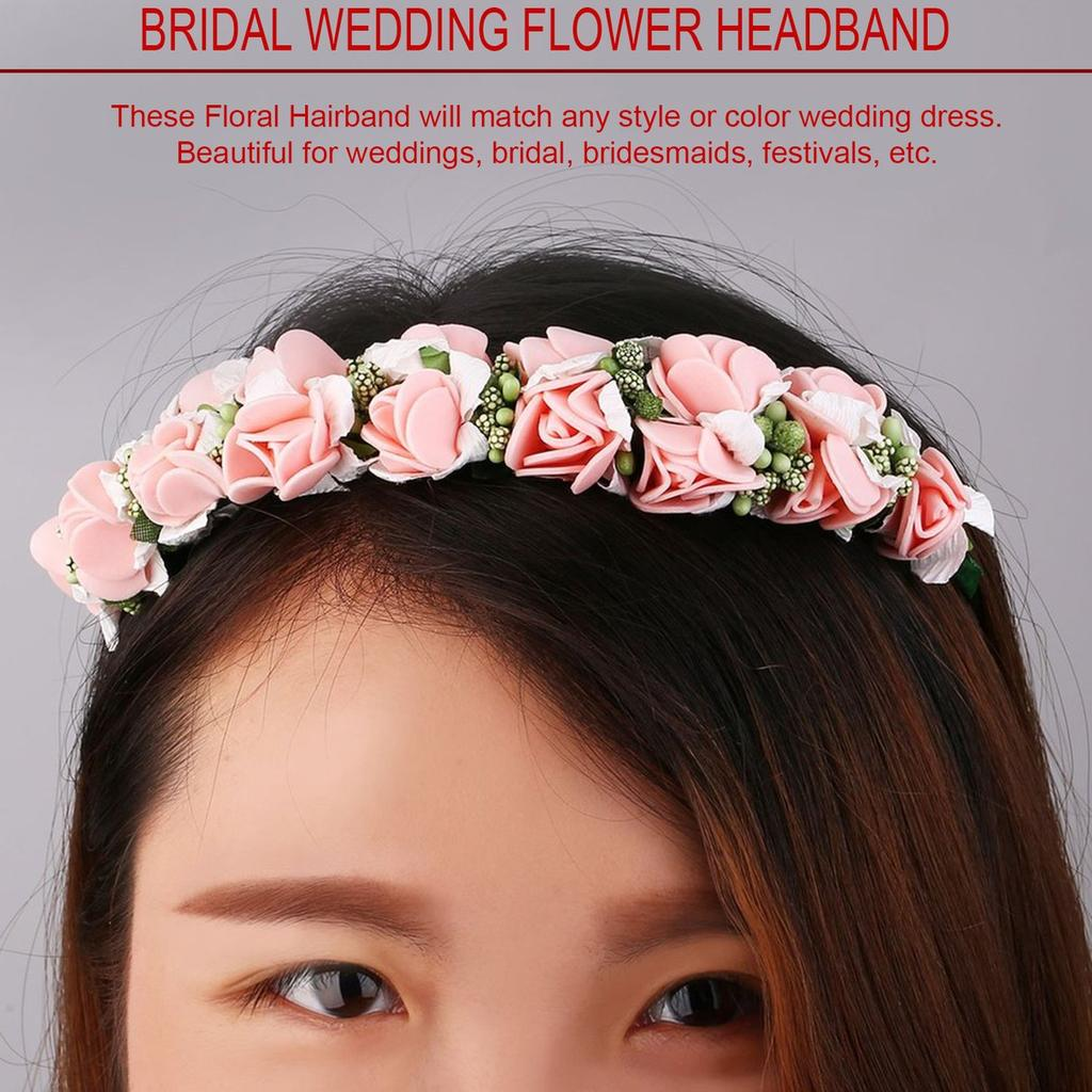 Flower Head Boho Garland Girl Beach Summer Travel Hair Band Headband Wedding