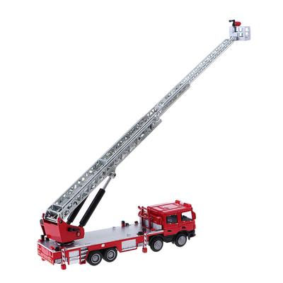 1:50 Diecast Toy Vehicles Alloy Construction Car Fire Ladder Truck Model