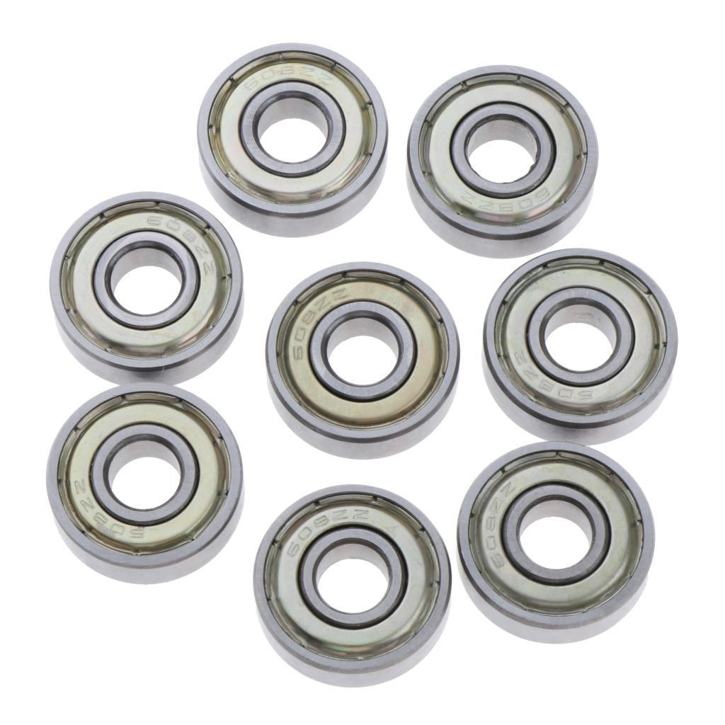 High Speed Ball Bearings 3x10x4mm Scooters for Skateboards Inline Skates 10pcs Steel Bearings Shielded Bearings Metric Bearings