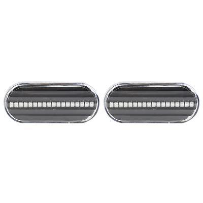 2 Smoke Lens Side Marker Indicators Reflector For 2002-2003
