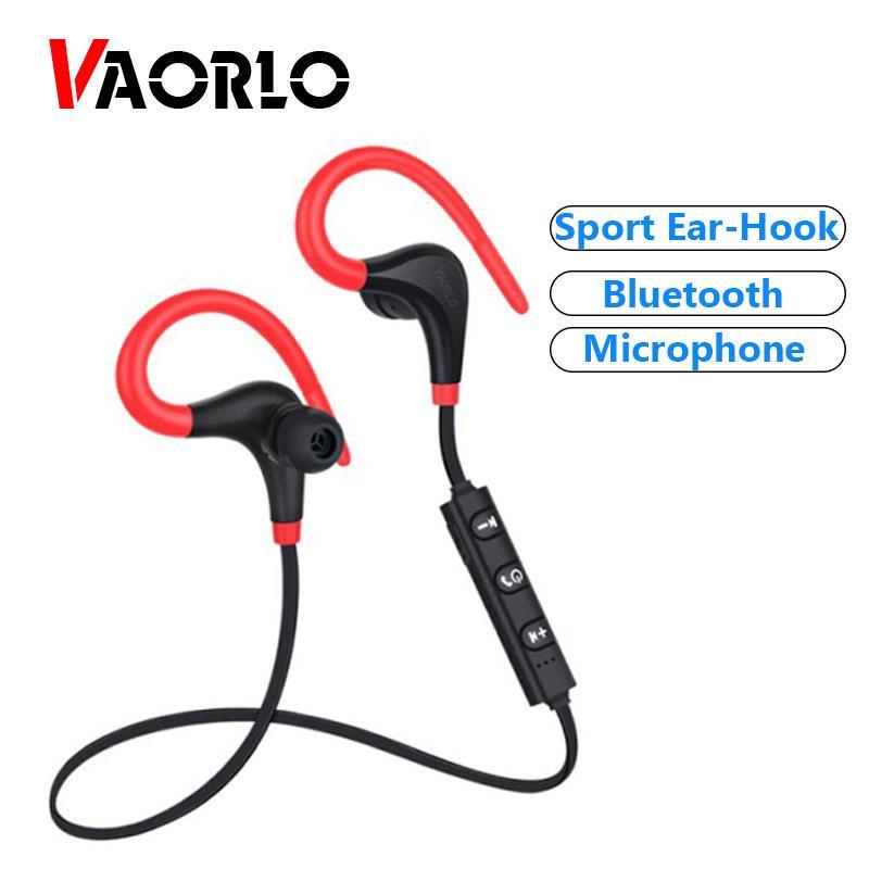 VAORLO Беспроводные Bluetooth наушники Спорт без рук ухо-крюк наушники Запуск гарнитуры с микрофоном – купить по низким ценам в интернет-магазине Joom