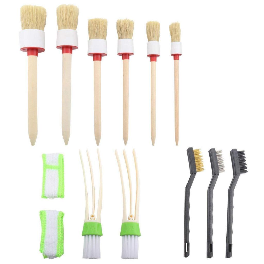 1 Air Vent Brush Car Detailing Brush Auto Detail Brush Set of 5 Boar Hair Automotive Detail Brushes Kit for Cleaning Car Interior Exterior Vehicles Wheels Leather Engine Dashboard 3 Wire Brushes