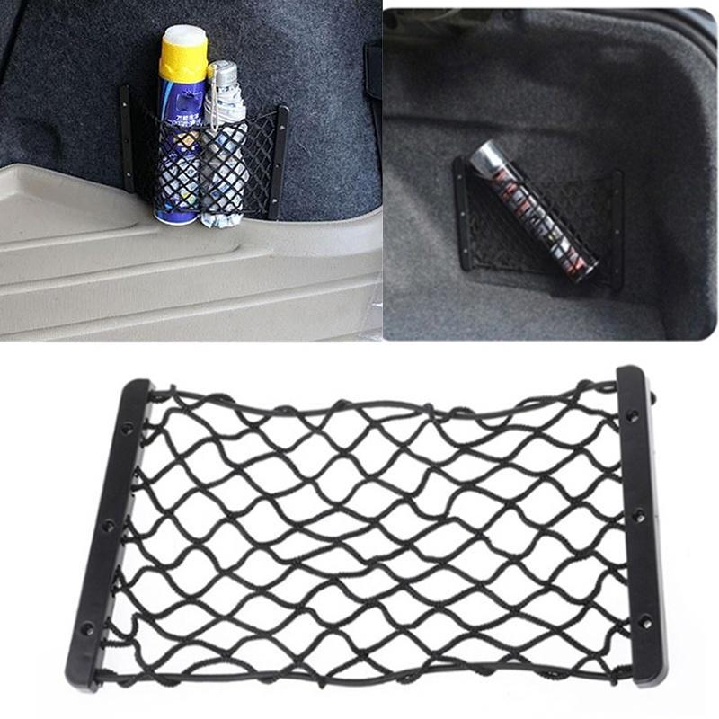 Cargo Storage Mesh Net Elastic Fire Extinguisher Luggage 35*18.5cm Black Nylon