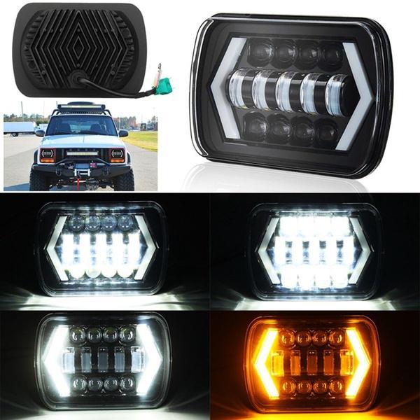 Chrome High Power  L Shape DRL LED Daytime Running Lights x2 For Jeep Cherokee