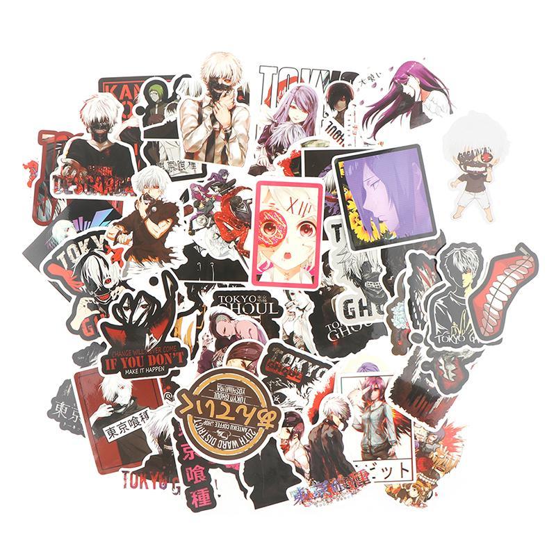 Tokyo Ghoul Anime Cartoon Laptop Stickers PVC 50pcs Tokyo Ghoul B