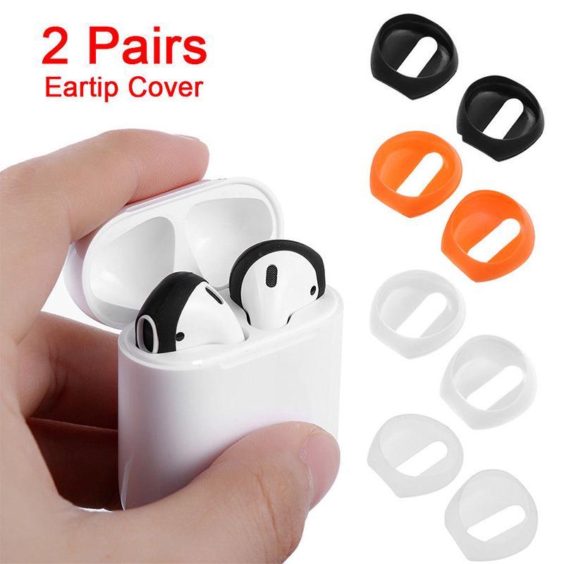 4 шт/набор силиконовый earbud чехол ухо Обложка анти скольжения в-ухо наушник советы для Apple AIRPod earbud фото