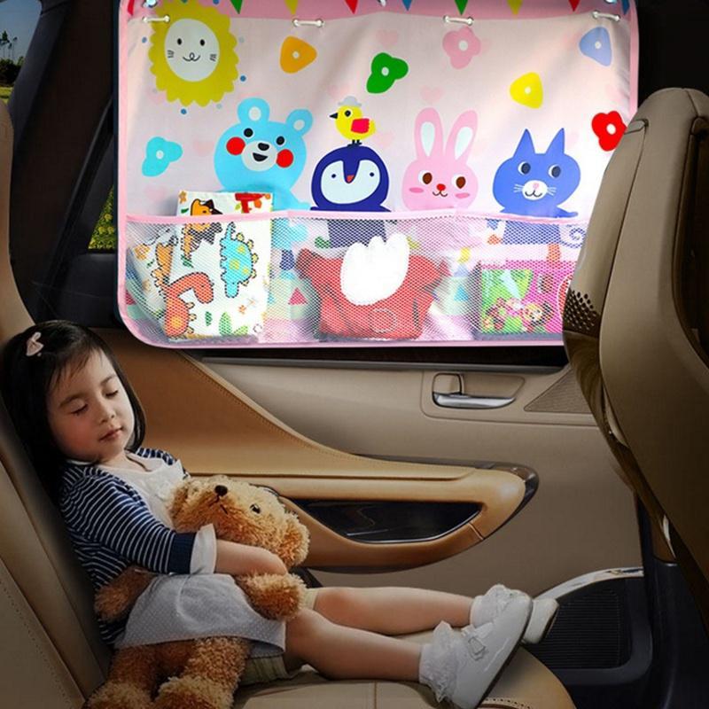Children Car 70*50CM Side Window Sunshade Cartoon Curtain sunvisor UV Protection