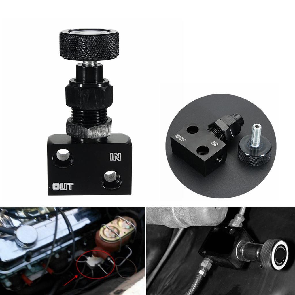 Black Adjustable Brake Proportioning Bias Valve Knob Style Suit Disc Drum Brake