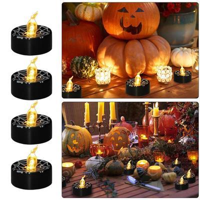 12PCS Candles Lamp Electronic LED Smokeless Pumpkin Light for Home Halloween Bar
